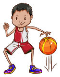 An energetic basketball player Stock Images
