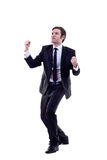Energetic business man winning Stock Photo