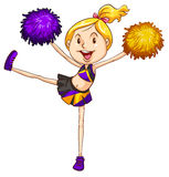 An energetic cheerdancer Royalty Free Stock Image