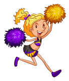 An energetic cheerleader Royalty Free Stock Images