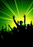 Energetic Dance Crowd Royalty Free Stock Photos