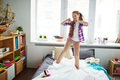 Energetic dancing Stock Images