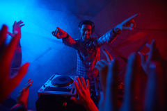 Energetic deejay Stock Images