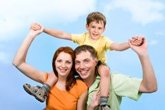 Energetic family Stock Images