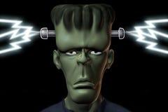 Energetic frankenstein. Frankenstein gets his energy on black Royalty Free Stock Image