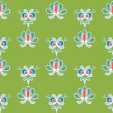 Energetic Green Floral Ornamental Seamless Pattern Royalty Free Stock Image