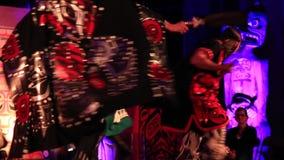 Energetic indian dance stock footage