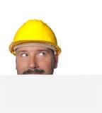 Man Isolated on white background Stock Images