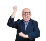 Energetic old man Royalty Free Stock Photography