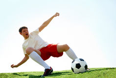 Energetic player Royalty Free Stock Image