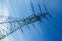Energetic pylon over sky Royalty Free Stock Photo