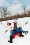 Energetic riding Stock Photo
