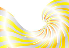 Energetic solar swirl. Clip-art stock illustration