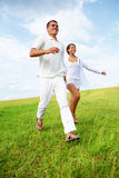 Energetic stride Royalty Free Stock Image