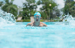 Energetic swimmer Stock Photography