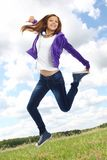 Energetic teenager Royalty Free Stock Photography