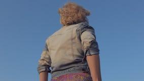 Energetic twerk performed by young girl stock footage