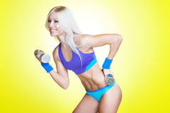 Energetic workout Royalty Free Stock Images