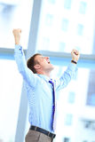 Energetic young businessman Royalty Free Stock Image