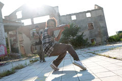 Energetic young hip hop street dancer Royalty Free Stock Photos