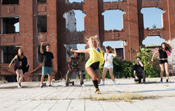 Energetic young hip hop street dancer royalty free stock image