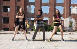 Energetic young hip hop street dancer Stock Photo