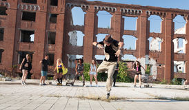 Energetic young hip hop street dancer Stock Photography