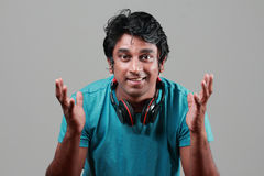 Energetic young man Stock Images