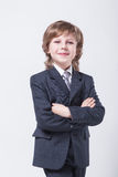 Energetic young successful businessman in a classic suit straigh Stock Image