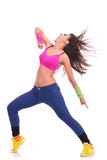 Energetic young woman dancer Stock Image