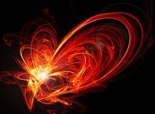 energetyczna abstrakcyjna czerwone. Obraz Royalty Free