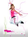 energetyczna dziewczyna Obrazy Royalty Free