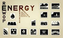 Energetyczna ikona Zdjęcie Royalty Free