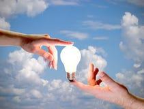 energetyczna istota ludzka Fotografia Stock