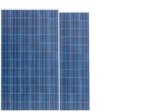 energetyczna ręka odizolowywający panelu słoneczny słońca biel Fotografia Royalty Free