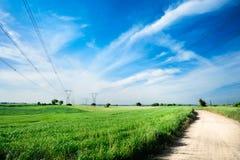 energetyczna zasięrzutna linia energetyczna Fotografia Royalty Free