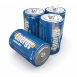 Energetyczne baterie Zdjęcia Royalty Free