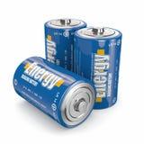 Energetyczne baterie Obrazy Stock