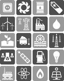 Energetyczne ikony Obraz Royalty Free