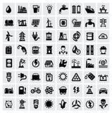 Energetyczne ikony Zdjęcia Royalty Free