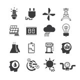 Energetyczne ikony Zdjęcie Royalty Free