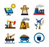 Energetyczne ikony ilustracji