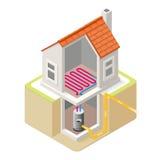 Energetycznego łańcuchu 04 Budować Isometric Obrazy Stock