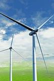 energetycznego gospodarstwa rolnego wiatr ilustracja wektor
