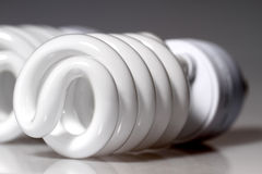 energetycznego lamp lekkiego oszczędzania ultrafioletowy biel Obraz Royalty Free