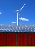 energetycznego panelu słoneczny wiatr Zdjęcie Stock