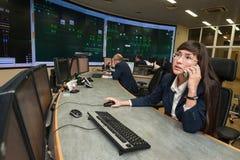 Energetycznej firmy kontrolny biuro Obraz Stock