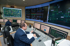 Energetycznej firmy kontrolny biuro Fotografia Stock