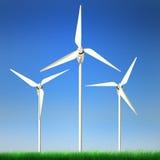 energetycznej władzy odnawialny wiatr Obrazy Royalty Free