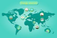 Energetyczni źródła Obrazy Royalty Free